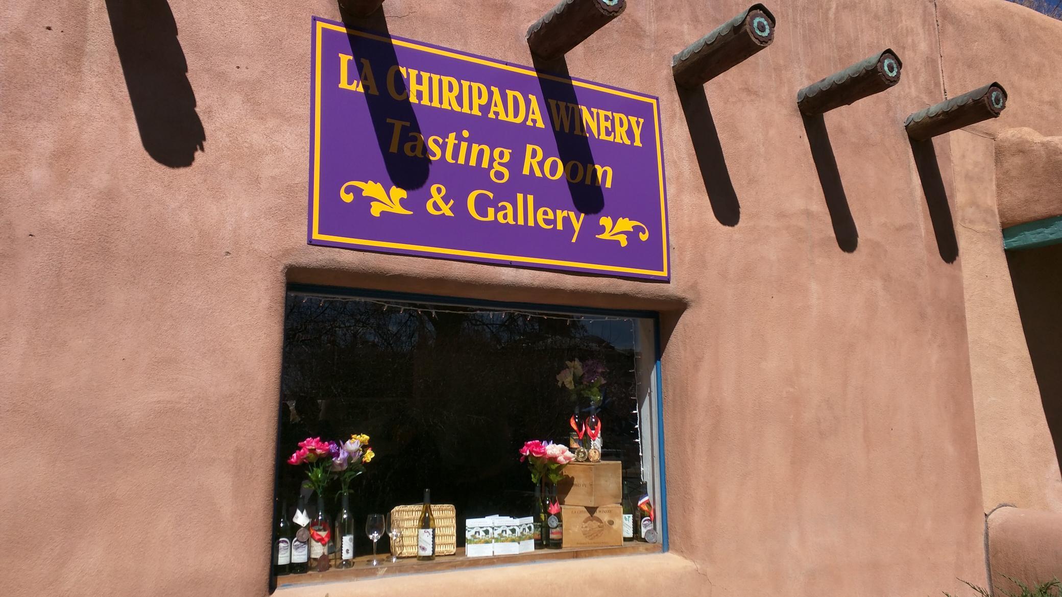 Taos tasting sign